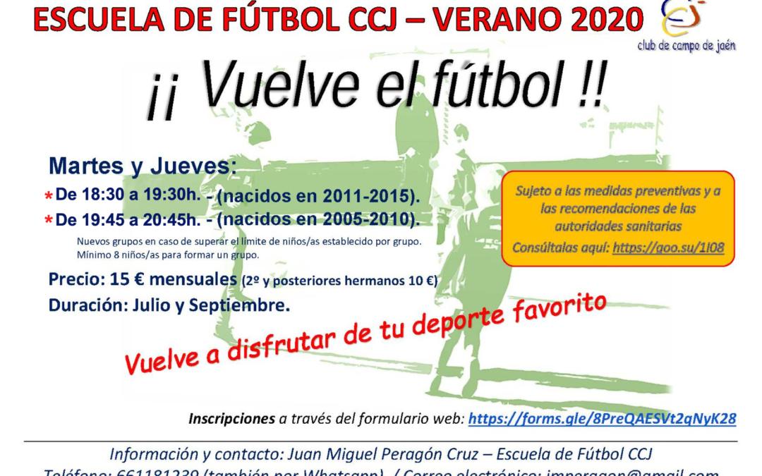 Escuela de Fútbol verano 2020 (Septiembre)